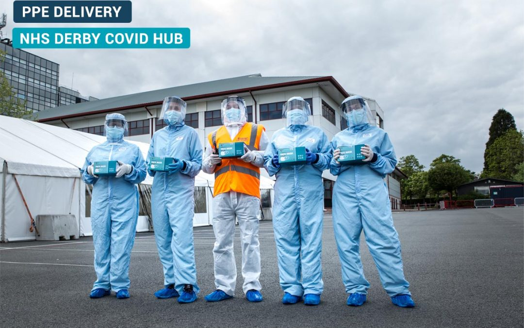 Derby COVID HUB PPE delivery UK Mask Force