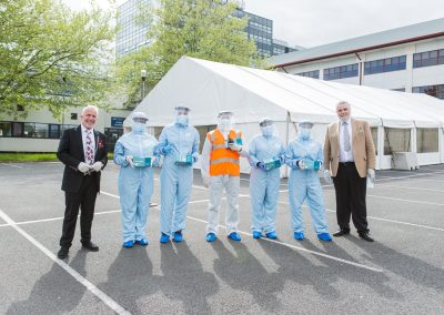 Derby COVID Hub UK Mask Force Delivery