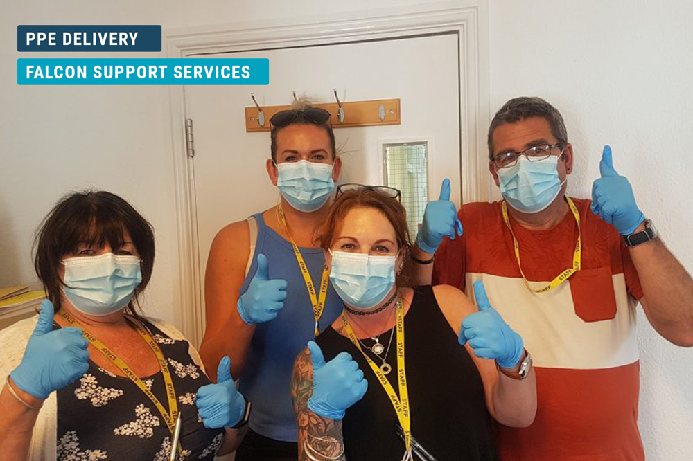 Falcon Support Services PPE Delivery