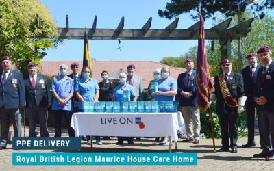 Royal British Legion Maurice House Care Home PPE Delivery