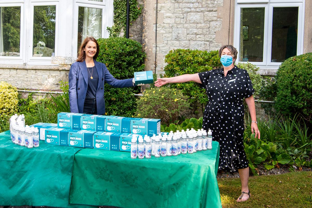 Ruth Wilson PPE Delivery Bramley House
